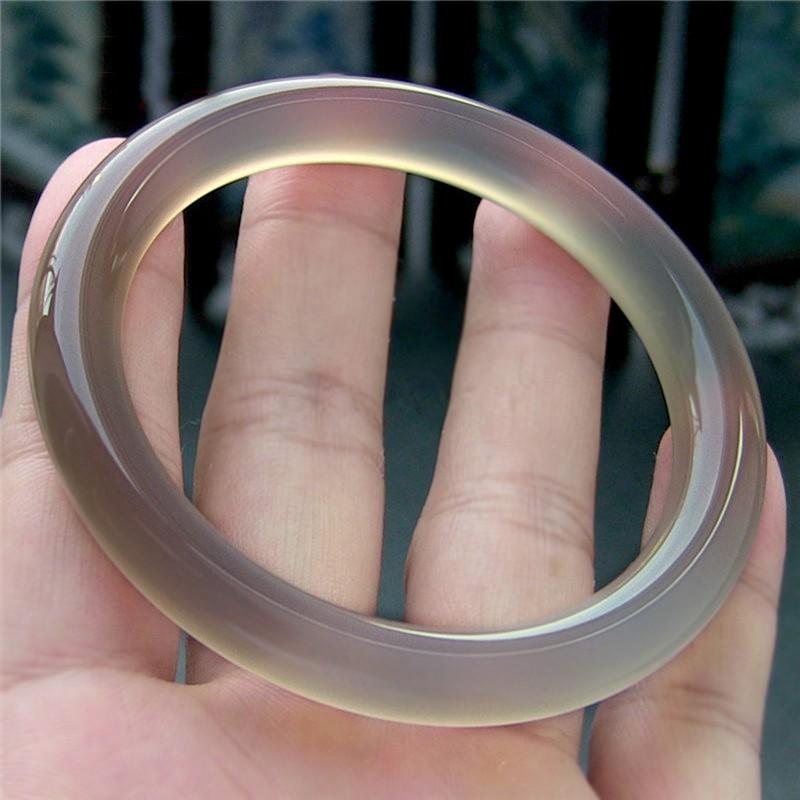 天然玉髓帝王紫手鍊灰色圓形瑪瑙手鍊