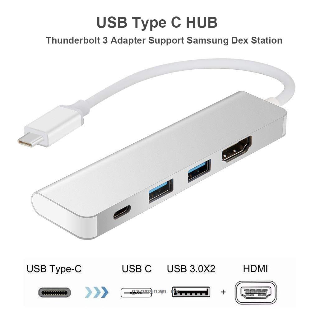 Usb Type C Hub Thunderbolt 3 適配器 Dex Station, 用於 Samsung Gal