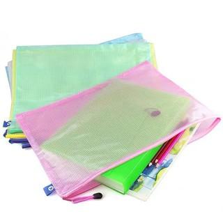 【現貨速發】A3文件袋透明特大號網格拉鏈袋8K美術繪畫袋試卷資料收納袋圖紙袋