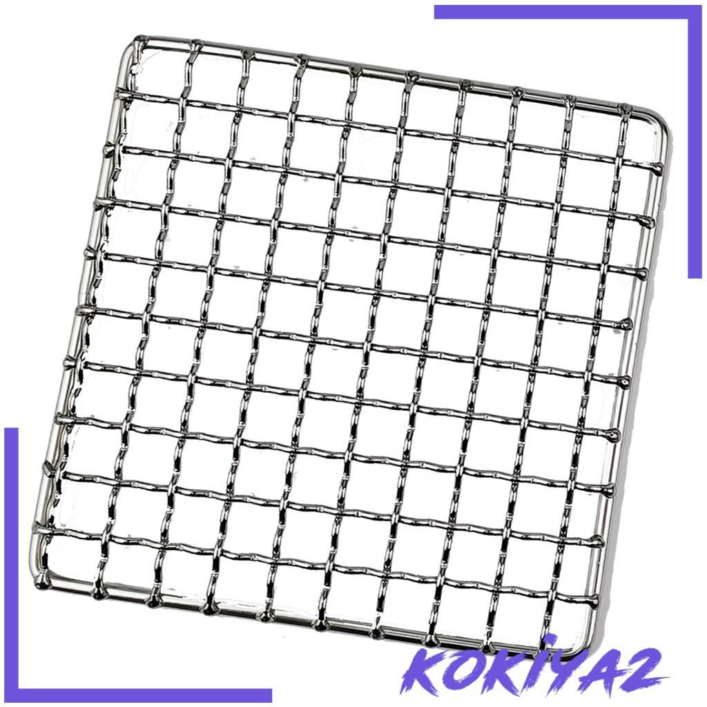 [Kokiya2] 1 包燒烤架網狀墊便攜式簡單柴火烤架 304 不銹鋼烤肉戶外