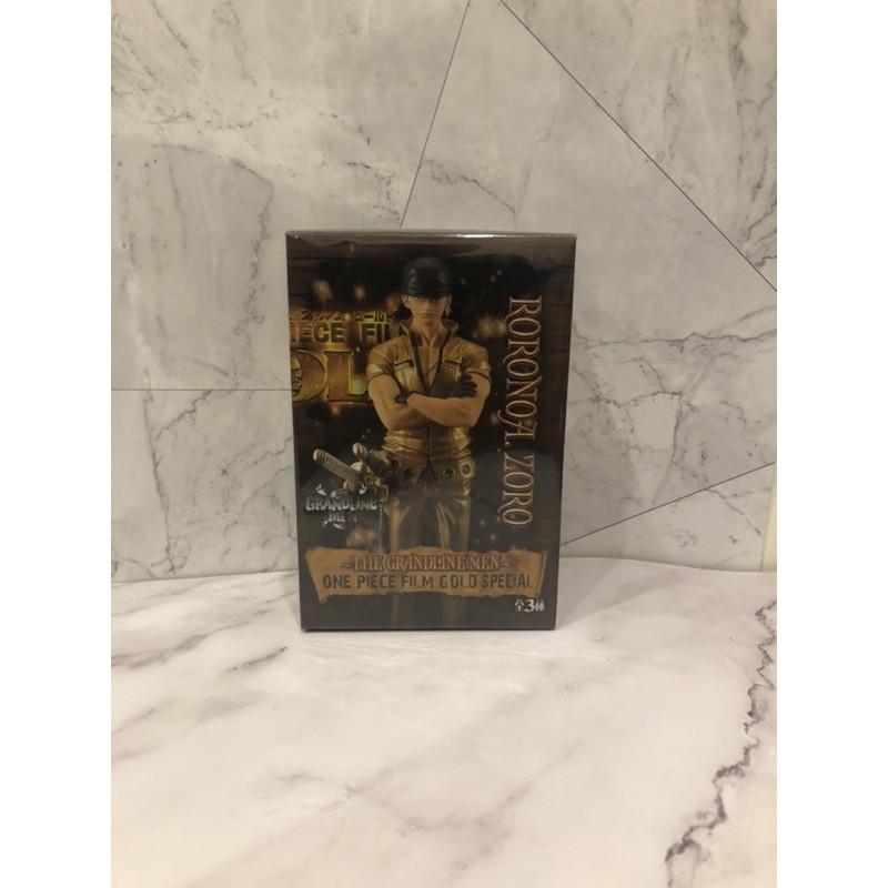 🎭無證現貨🎭航海王 海賊王 黃金城金衣 「索隆」GOLD 人偶 盒裝公仔 擺件
