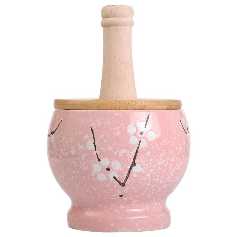 蒜泥神器 廚房工具壓蒜泥家用搗蒜器老式陶瓷蒜臼子研磨搗碎器搗藥罐蒜缸盅/可開超取