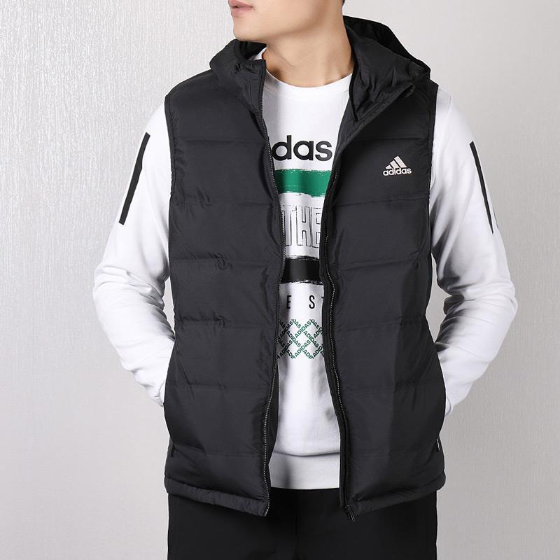 阿迪達斯羽絨服男2019冬季新款運動外套防風保暖背心夾克BQ2006