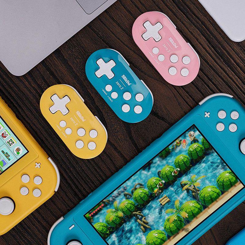 8Bitdo八位堂Zero2無線藍牙迷你動物森林小手柄Switch手機PC電腦遊戲動森限定NS任天堂Lite十字鍵便攜之