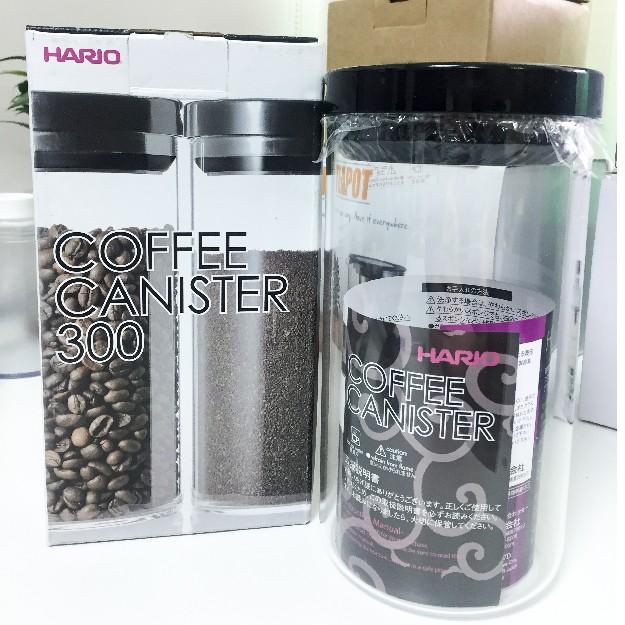 【HARIO】玻璃密封罐1000ml✰MCN-300B✰黑色/密封罐/保鮮罐/咖啡豆儲存/儲物罐【公司貨/附發票】