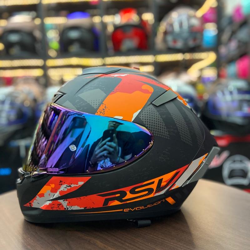 頂得住安全帽  RSV X14 終極紅花(偏橘)全罩式 輕量化 超透氣
