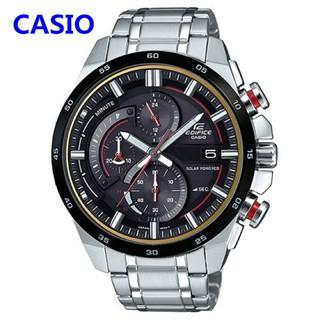 CASIO卡西歐手錶 EDIFICE EQS-600系列運動太陽能 男錶 三眼錶 賽車系列 男士腕錶 商務手錶
