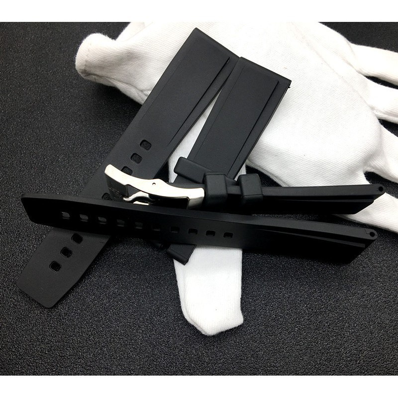 💎💎進口硅膠適配Breitling百年靈黑鳥復仇者海洋文化手表帶22mm海狼