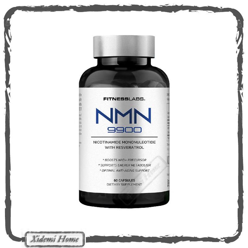 美國FitnessLabs肌魔實驗室 美國NMN9900進口β-煙酰胺單核苷酸 營養補充劑 60顆