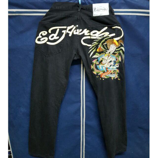 Ed  Hardy牛仔褲。秋冬。夜店 Tattoo