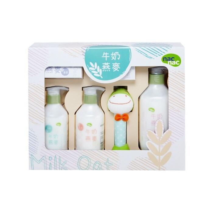 nac nac-牛奶燕麥護膚禮盒 6件組 彌月禮盒