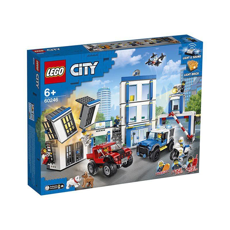 台灣現貨  樂高盒組 switch 樂高LEGO城市警察局60246城市組系列小顆粒男孩積木玩具 d4Rj
