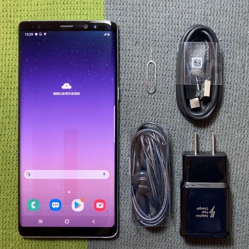 Samsung Note8 64G 紫 灰 6.3吋 9成新 三星 N8 虹膜辨識 二手機 面交 貨到付款 銀幕有烙印