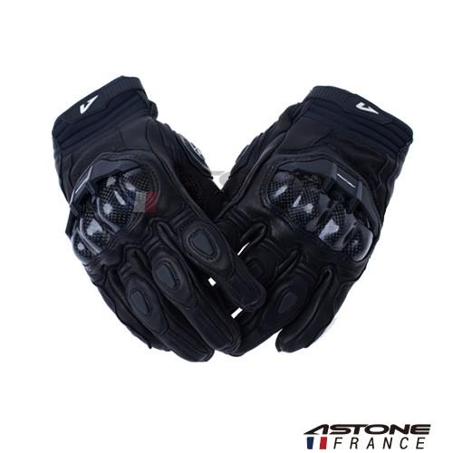【ASTONE】LC01 (黑) 短款 防摔手套 透氣 開放式護具 碳纖維 滑塊設計
