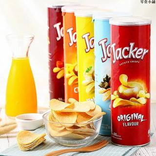 (貪吃喵)馬來西亞進口杰克薯片160g罐裝土豆片膨化食品零食小吃番茄味批發 桃園市