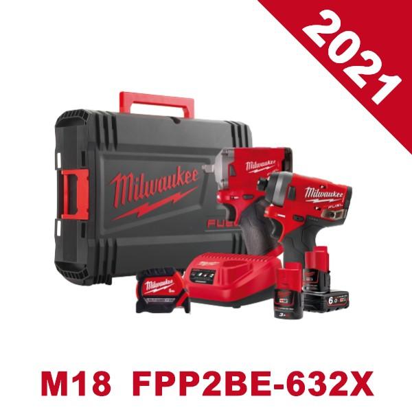 【BOXO赫杰國際】Milwaukee 美沃奇「12V鋰電無碳刷起子/扳手雙機」(M12 FPP2BE-632X) 預購