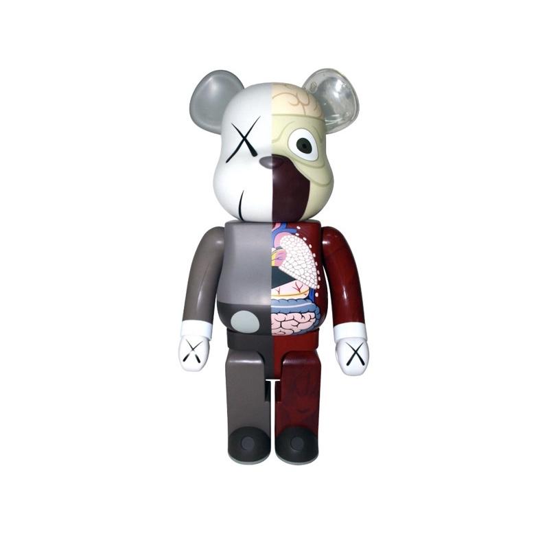 Bearbrick x Kaws半剖 1000% 限量500版 庫柏力克熊