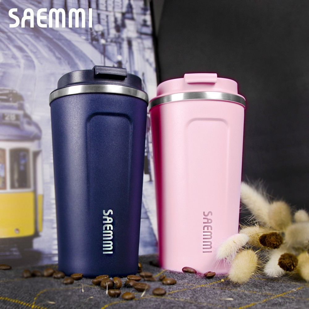 【韓國SAEMMI】316不鏽鋼咖啡直飲輕量保溫杯- 350ml 500ml 兩種規格任選