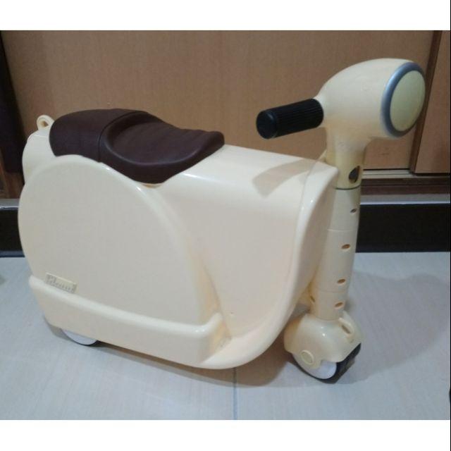 英國skoot史酷得兒童拉風旅行偉士牌摩托車 兒童造型行李箱(含運)