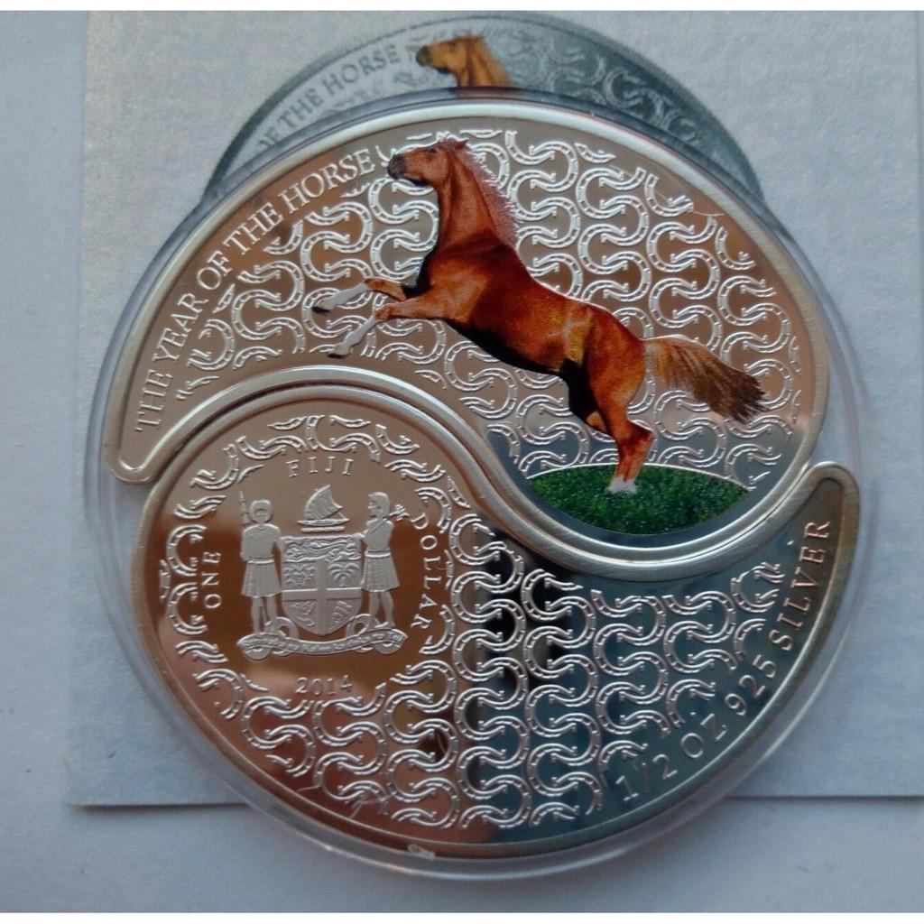 [白銀之手]<預購>2014斐濟馬年雙銀幣套組-3299