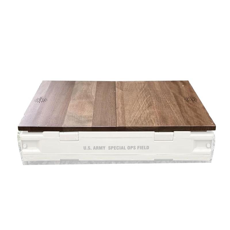 【大山野營-露營趣】新店桃園 Campingbar CAMP-6-1 原木兩片式桌板 收納箱專用 木桌板 折疊側開收納箱