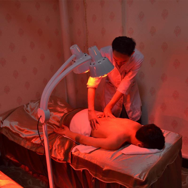 紅外線理療燈美容院雙頭烤燈家用儀理療神電烤燈遠紅外線燈