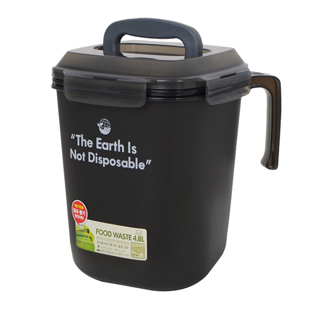 【LOCK LOCK 樂扣樂扣】廚餘回收桶超值雙入組(4.8L+3L、防臭、密封)
