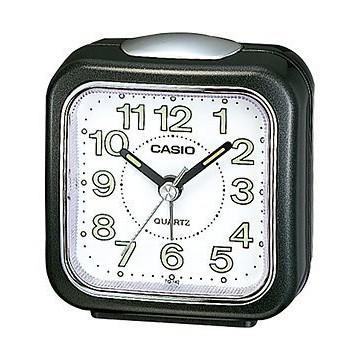 【八度空間】CASIO TQ-142-1 大字方形鬧鐘 數字刻度漆有螢光塗料 夜間判讀同樣便利
