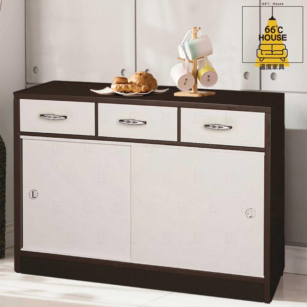 【溫度家具】塑鋼系列 居家碗盤櫃 餐櫥櫃/廚房櫃/電器櫃/收納櫃