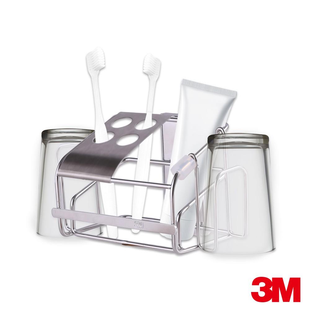 3M 無痕 金屬防水收納系列-牙刷架 7100173759