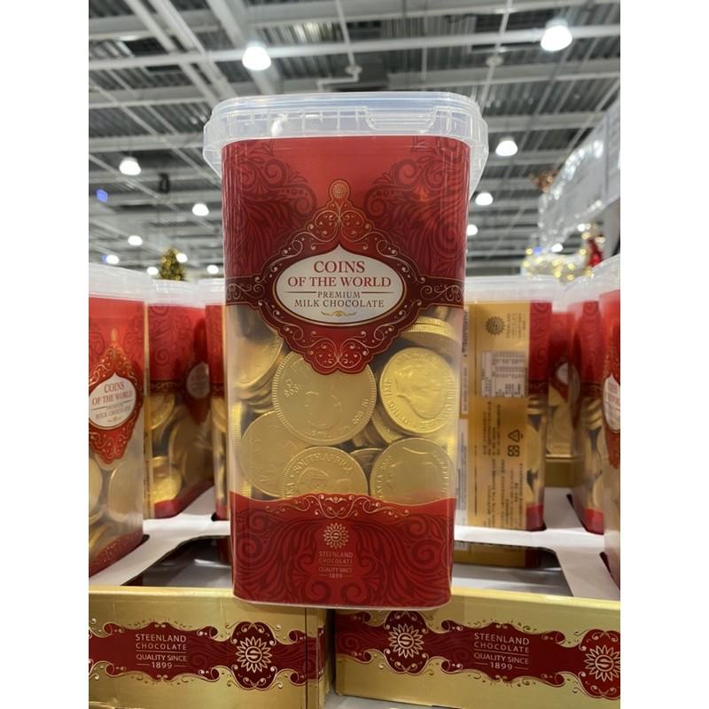 Costco 好市多代購 Steenland桶裝 金幣巧克力 1.25公斤 萬聖節 巧克力