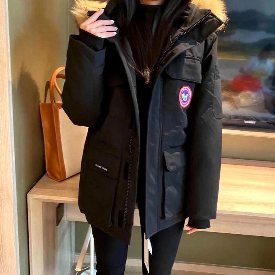 Canada goose 加拿大鵝羽絨服 加厚保暖防寒外套 8008款 大貉子毛領 男女情侶款時尚風衣 羽絨外套