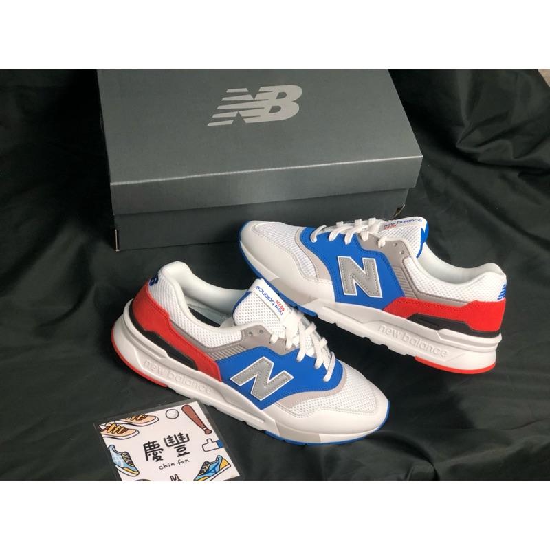 慶豐體育👟new balance 997h CM997HZJ 休閒鞋 復古 經典 白 藍 紅 男
