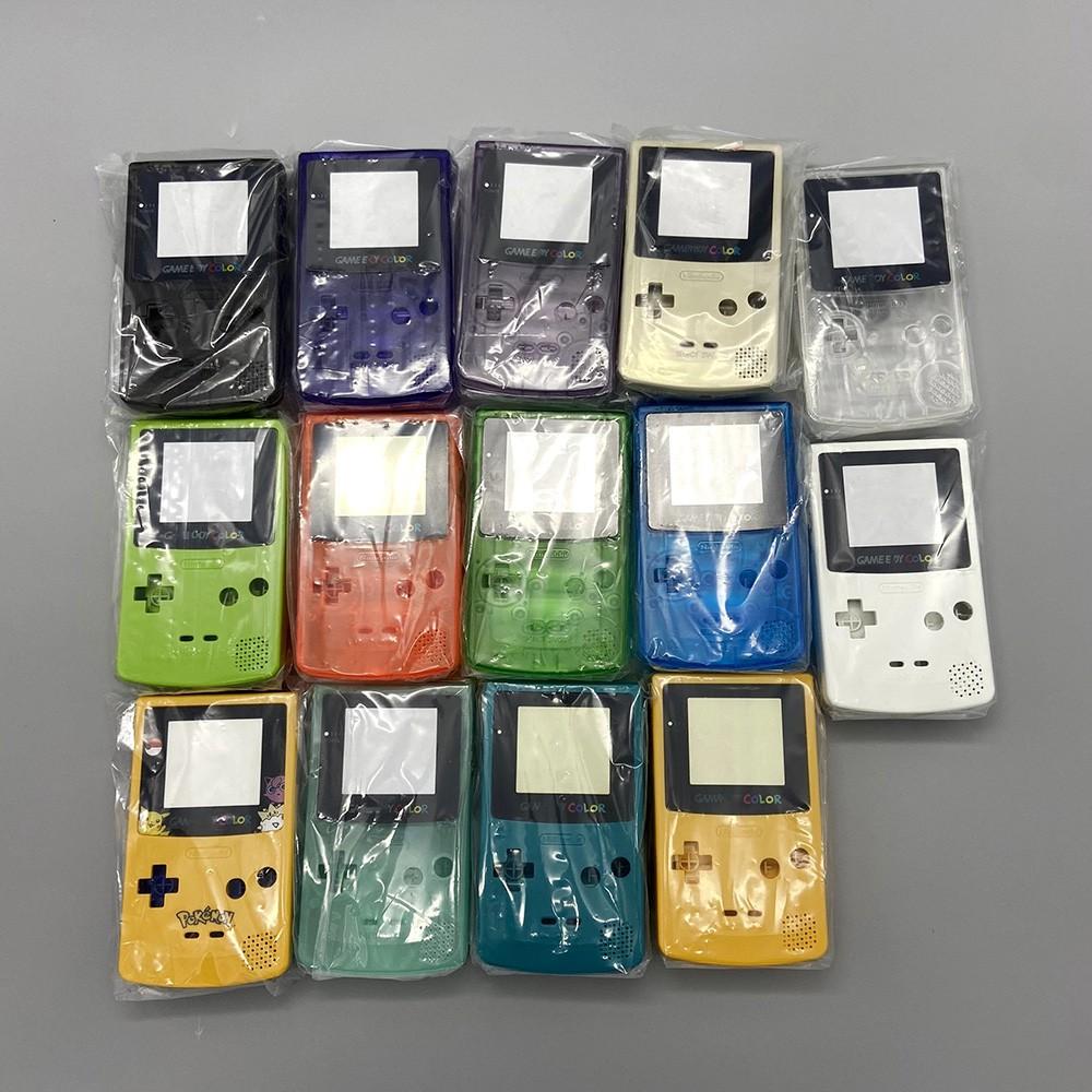 原裝遊戲機外殼, 帶 Nintendo Gbc Ips 屏幕外殼的按鈕, 無需為 Gameboy 彩色保護套切割外殼