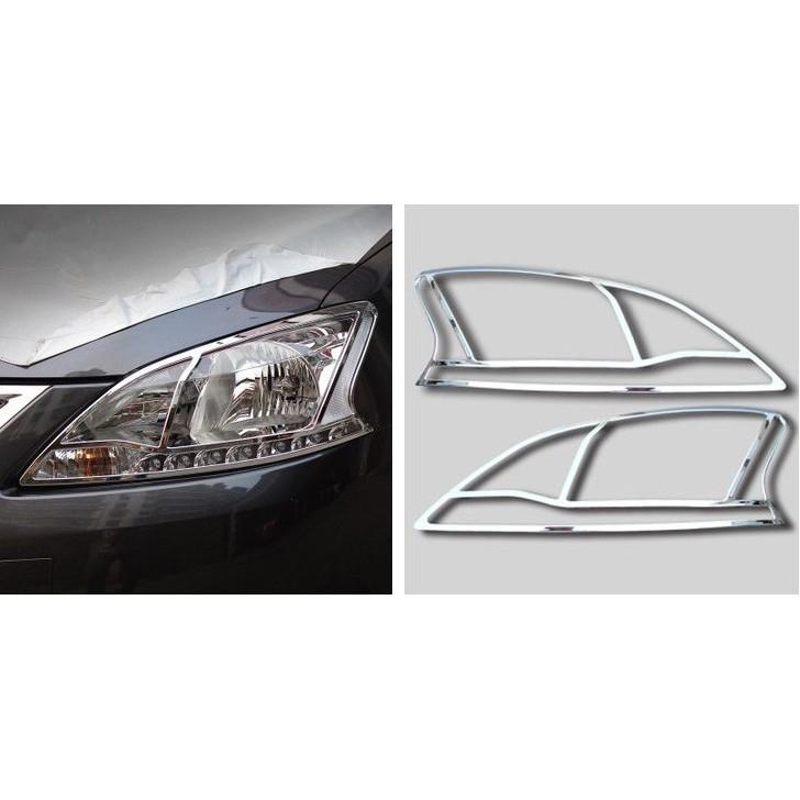 [[娜娜汽車]]日產 Nissan super Sentra 專用 ABS電鍍 大燈罩(一對裝)