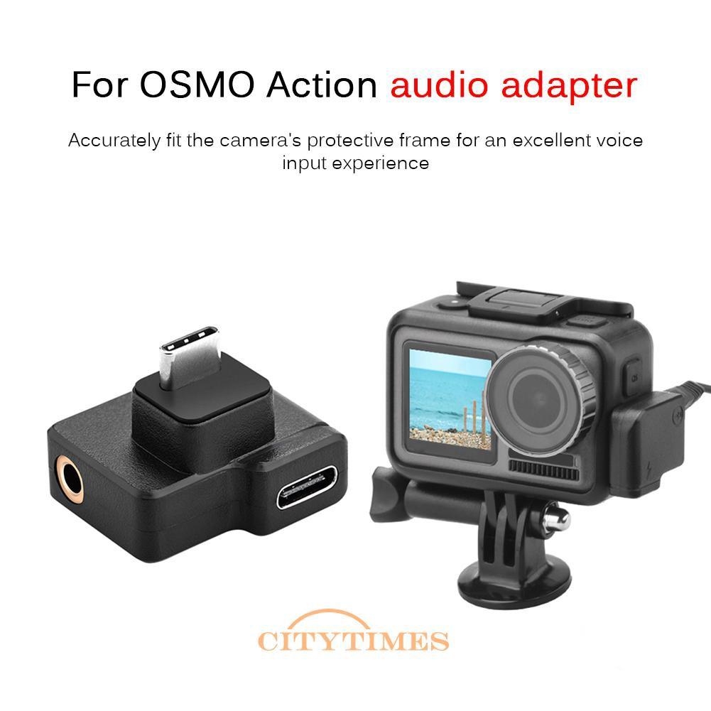 Usb C 型公對母 + 3.5mm 麥克風適配器, 用於 Dji Osmo Action