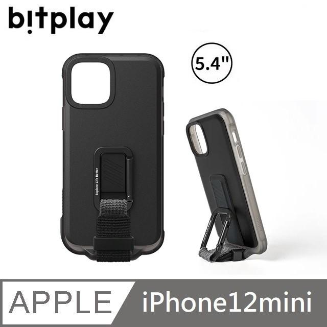 bitplay WanderCase 立扣殼 獨創自立扣環 - iPhone12mini - 黑色 【贈】台製滿版玻保