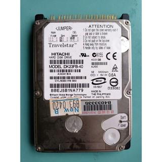 經典懷舊 HITACHI 2.5吋 40GB(40G) IDE介面 筆電硬碟 DK23FB-40 (測試瑕疵故障) 桃園市