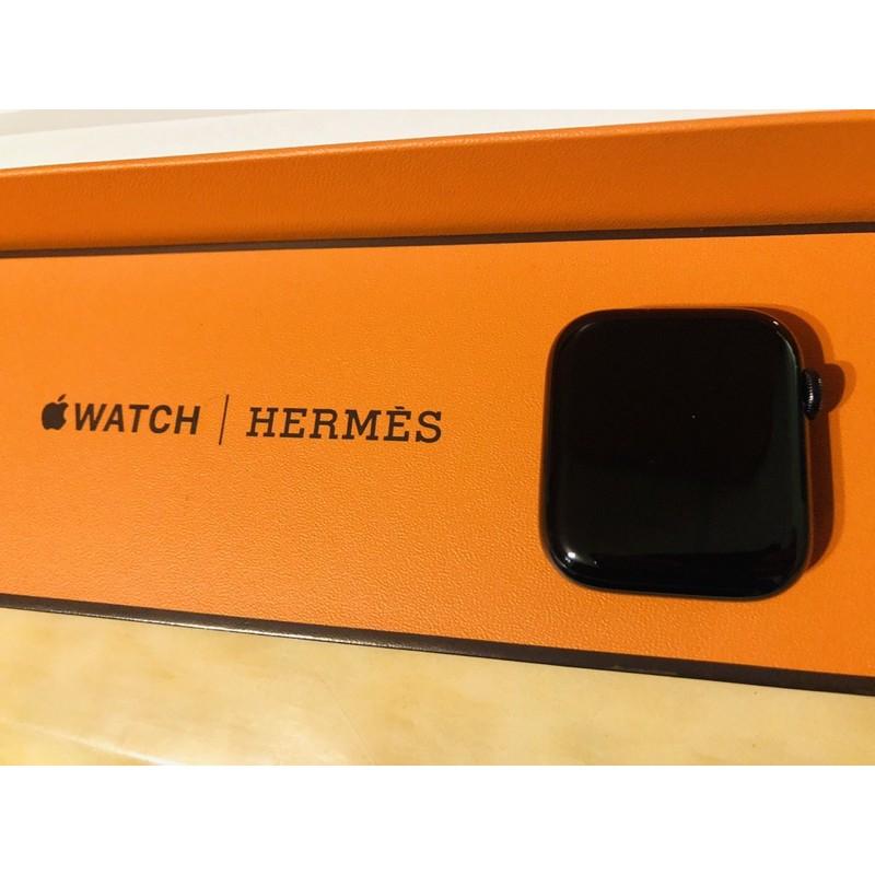 極新保內-Apple Watch Hermès S5 44mm 黑色不銹鋼-保固內(不含錶帶)