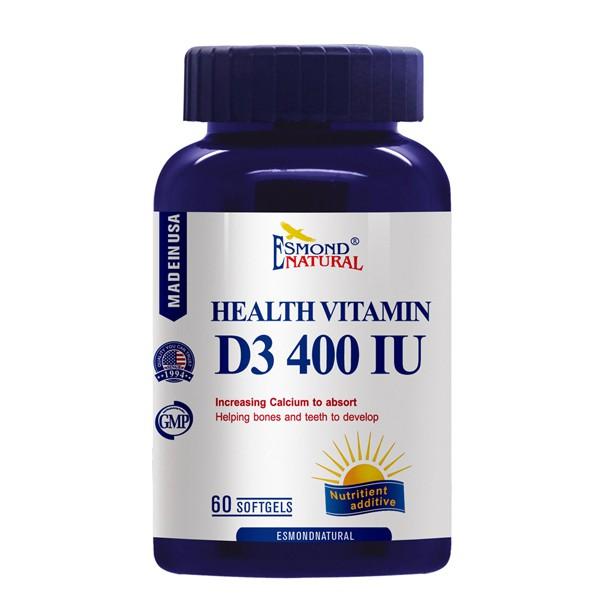 Esmond Natural 愛司盟 健康維生素D3 400IU軟膠囊 (60顆/瓶)【杏一】