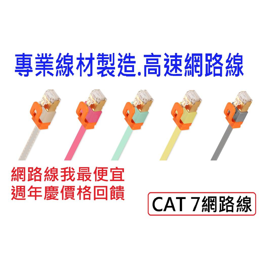 💖附發票💖週年慶我最便宜 現貨 CAT7網路線 高速網路線 網路線