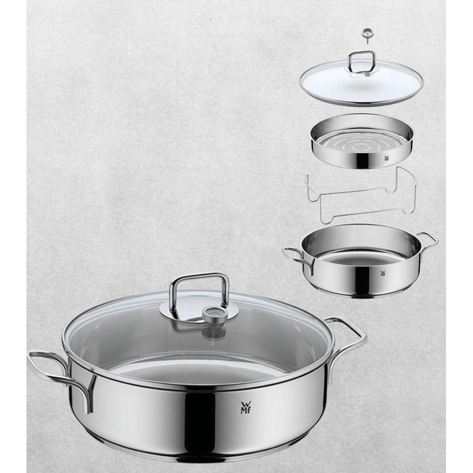 德國 WMF 多功能萬用鍋 28cm 蒸 煮 炒 烤 燉 內嵌溫度計 蒸架