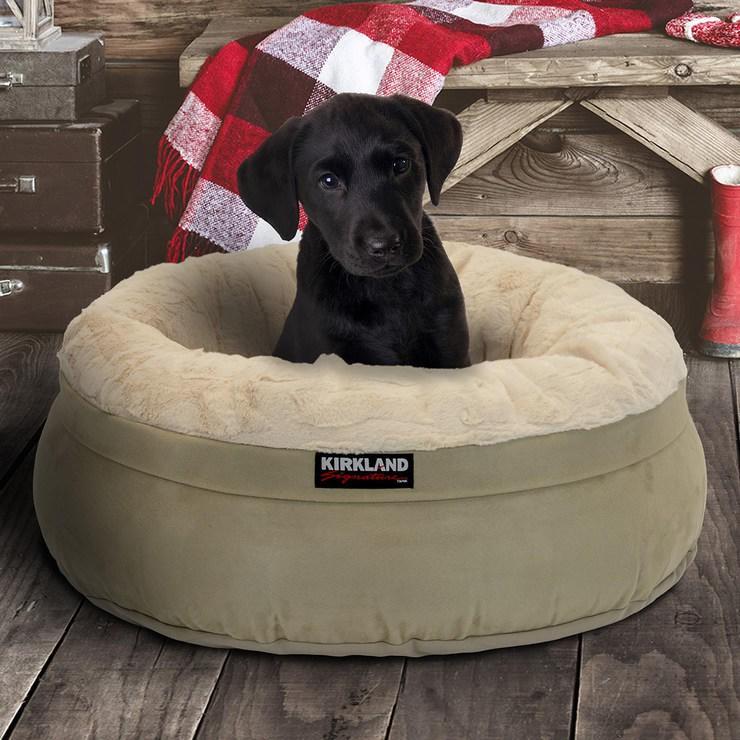 【小如的店】COSTCO好市多線上代購~KIRKLAND 24吋圓形寵物睡窩/寵物床(1入)