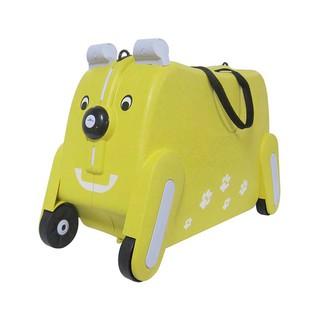 (現貨福利品出清)19吋彩色繽紛狗可坐 可拉兒童置物箱 行李箱 玩具收納箱