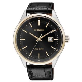 CITIZEN 星辰_ BM7254-12E_指針男錶_小牛皮錶帶_黑_藍寶石玻璃鏡面_光動能 國隆手錶專賣店 台中市