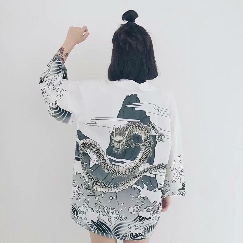 日本復古和服袖開衫外套