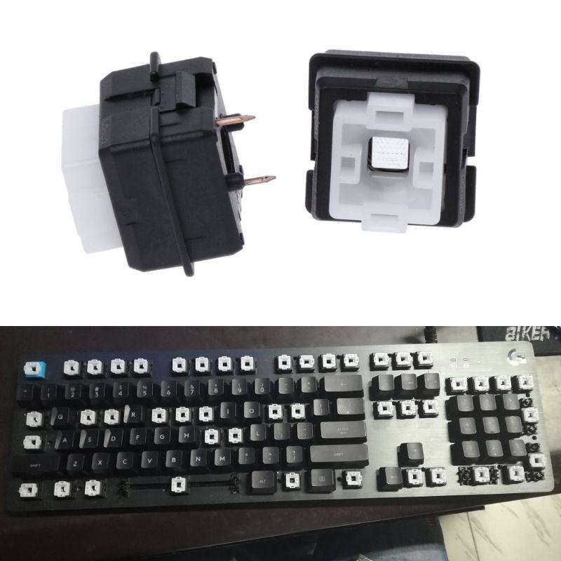 適用於Logitech G910 G810軸鍵盤的2Pcs原裝Romer-G開關歐姆龍軸