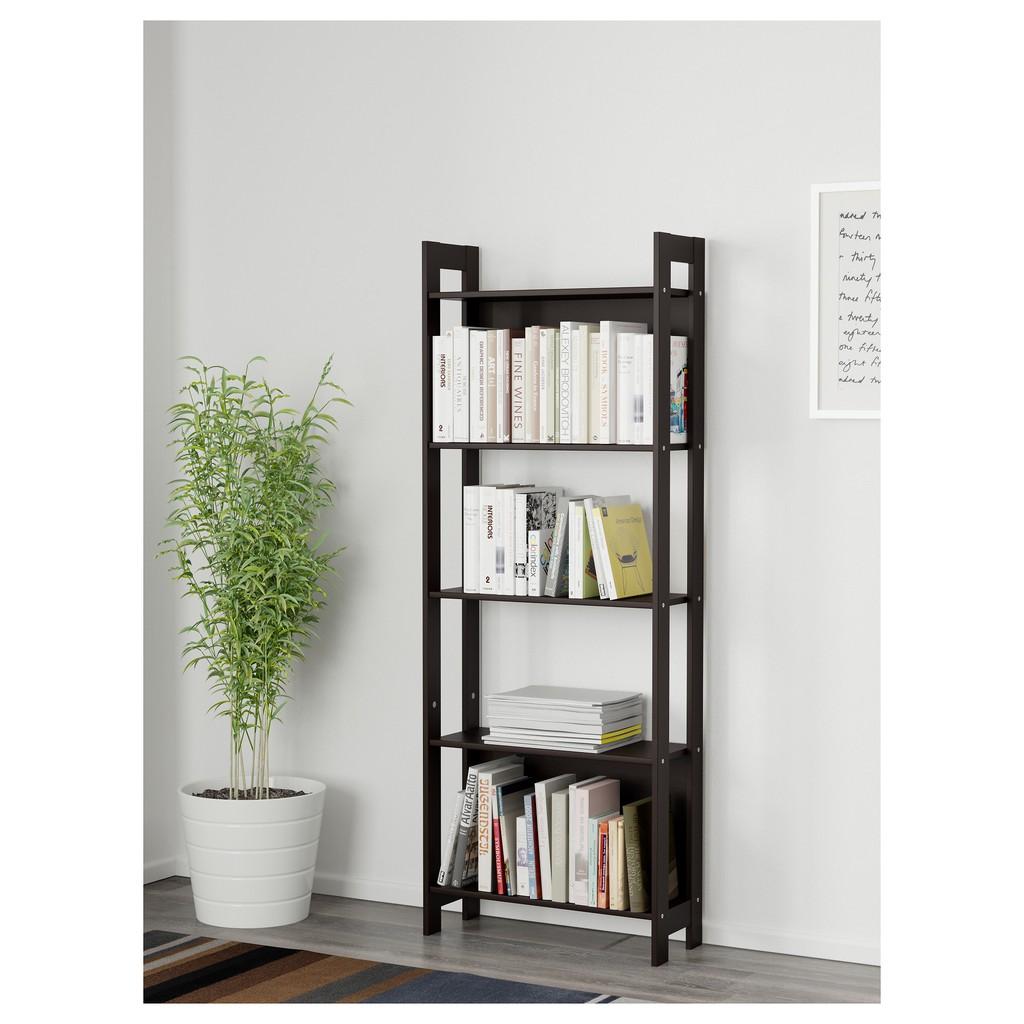 北歐工業LOFT風格經典IKEA宜家LAIVA書櫃書架層架組收納架收納櫃/黑/24x62x165/二手八成新/特$390