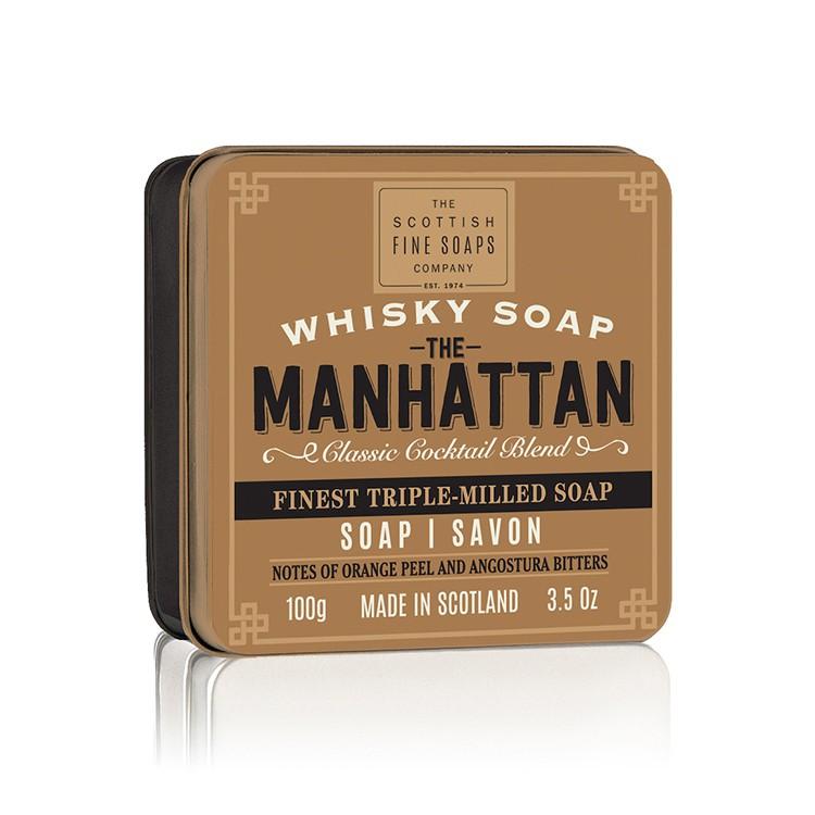 Scottish Fine Soaps - 威士忌香氛皂(曼哈頓)沐浴皂沐浴香皂香水肥皂 威士忌皂 男士男性沐浴乳沐浴露