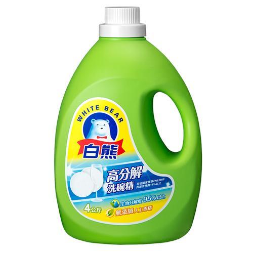 白熊高分解洗碗精4kg【愛買】